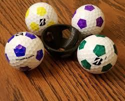 golf ball soccer ball stencil